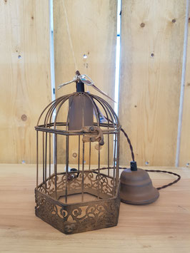 Eglo Hanglamp Vintage Staal Bruin Kooi