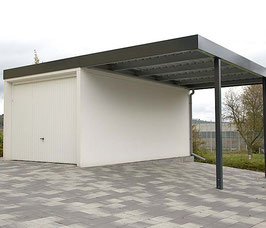 Stahl-Wand-Carport W300-600