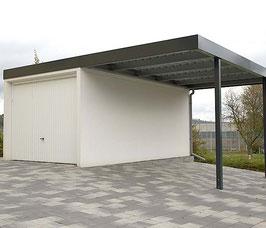 Stahl-Wand-Carport W300-550