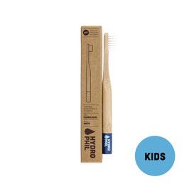 Hydrophil Bambus Kinder Zahnbürste - Dunkelblau Extraweich