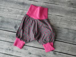 Pumphose Gr. 44-50 - Sterne-pink/Grau-Pink