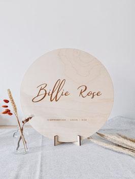 "Houten naambord ""Billie Rose"""