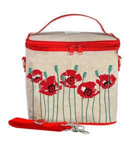 Red Poppy Cooler Bag - Large