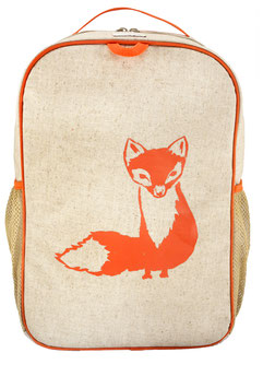 Soyoung Orange Fox Grade School Backpack