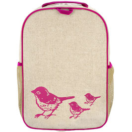 Soyoung Pink Birds Grade School Backpack