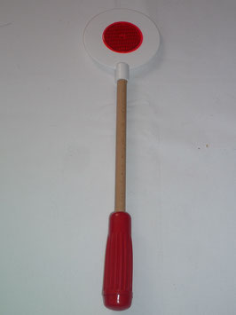 Schaffnerkelle - Länge 35 cm Kunststoff  mit Holzstiel