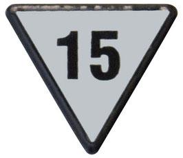 Geschwindigkeitstafel 15