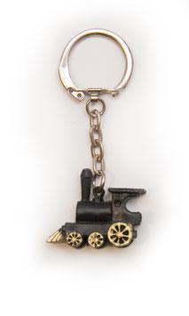 Schlüsselanhänger - Kleine schwarze Dampflok