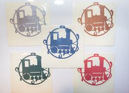 Eisenbahn Karte Dampflokmotiv 16 x 16 cm