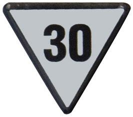 Geschwindigkeitstafel 30
