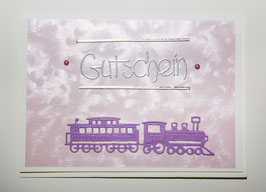-Gutschein- Karte Eisenbahn
