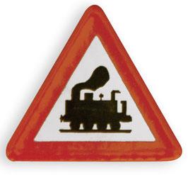 Verkehrsschild Achtung Dampflok