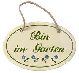 Bin im Garten (mit Kordel)
