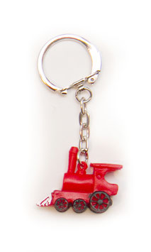 Schlüsselanhänger - Kleine rote Dampflok
