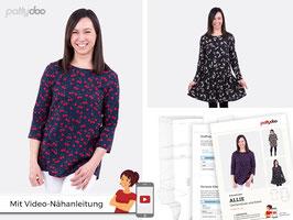 Allie, Damenbluse + Kleid von pattydoo
