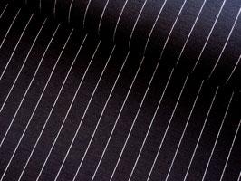 0,10 m Romanitjersey, Nadelstreifen - schwarz/weiß