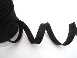 Paspelband, uni - schwarz