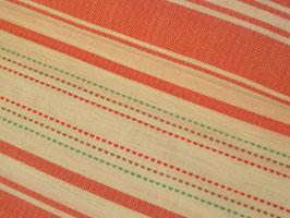 Webstoff, Webstreifen - rot/weiß/grün