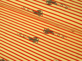 0,10 m Jersey, Flugzeuge Plane Stripes - rot/grau by Sam