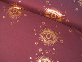 Baumwolljersey, Eye Eye - violett