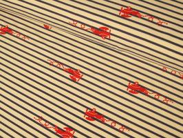 0,10 m Jersey, Flugzeuge Plane Stripes - blau/rot by Sam