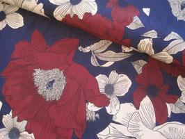 Viskosecrepe, Blumen - violett