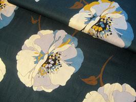 Viskosestoff, Veronika - Blumenprint tannengrün