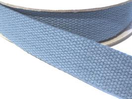 Baumwoll-Gurtband, 30mm - graugrün