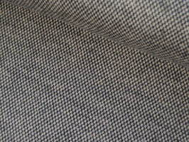 Tweedstoff, kleine Karos - beige/schwarz