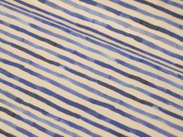 Baumwolljersey, Neptunus - Streifen blau/weiß