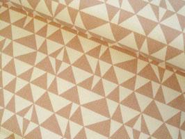 25cm RESTMENGE Canvas, Tillisy Dreiecke - altrosa