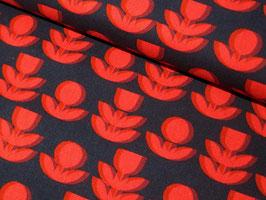 0,10 m Baumwolle/Leinen, Paint Flowers by Kokka