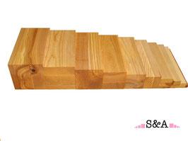 Brūnās trepes - dabīgā koka krāsā