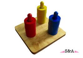 Krāsainas ripas vertikālos torņos