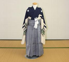七五三  三歳〜五歳 男児 着物・袴と草履のセット