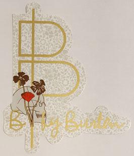 Burton - Snowboard Sticker - Skull