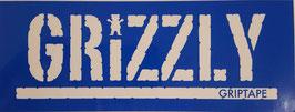 Grizzly Griptape - Schriftzug - Weiß/Blau