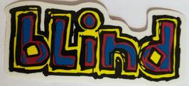Blind Skateboards Logo - Blau/Gelb