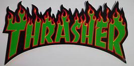 Thrasher - Flammen - grün