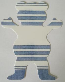 Grizzly Griptape - Blau/Weiß gestreift - groß