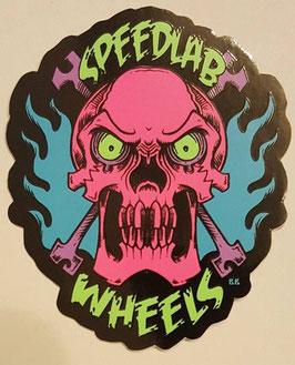 Speedlab Wheels - Skull Sticker