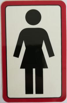 Girl Skateboards - Logo  klein - schwarz/rot