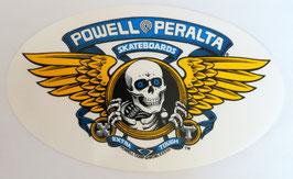 Powell Peralta Sticker Winged Ripper Blau
