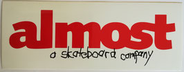Almost Skateboards  - Logo Rot/Weiß