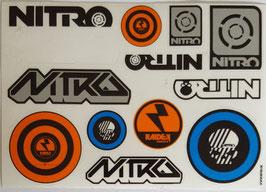 Nitro - Sticker Bogen - 13 kleine Sticker