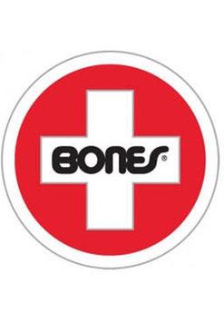 Bones Wheels Cross Sticker
