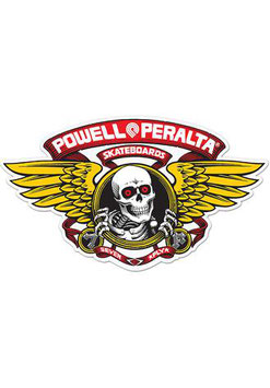 Powell Peralta Sticker - Winged Ripper rot