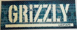 Grizzly Griptape - Schriftzug - blaues Muster