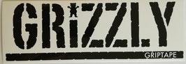 Grizzly Griptape - Schriftzug - schwarz/weiß