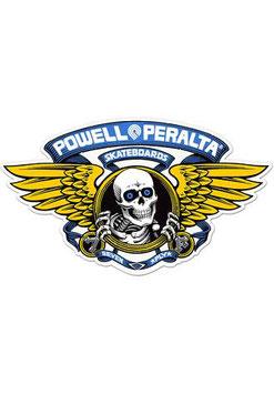 Powell Peralta Sticker - Winged Ripper blau